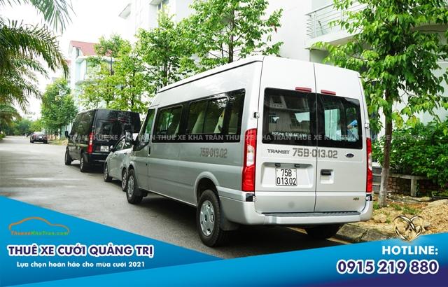 xe 16 chỗ phục vụ cưới hỏi tại Quảng Trị