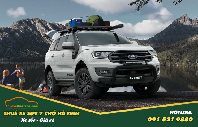 thuê xe suv 7 chỗ tại hà tĩnh Ford Everest